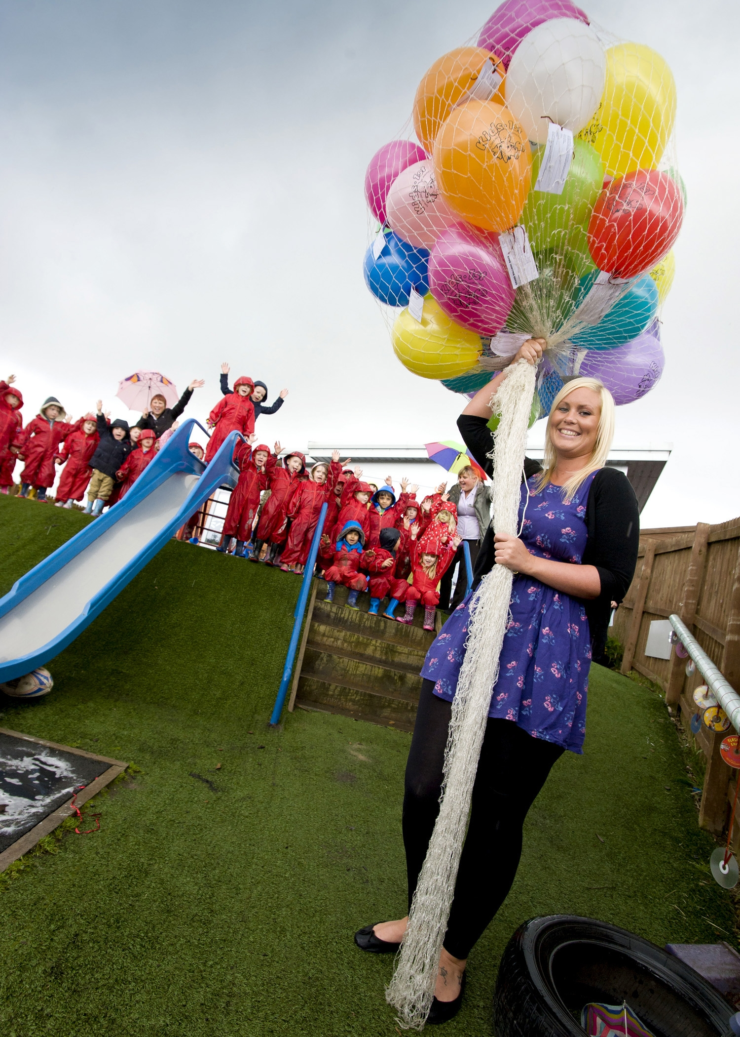 Balloon racing for charity