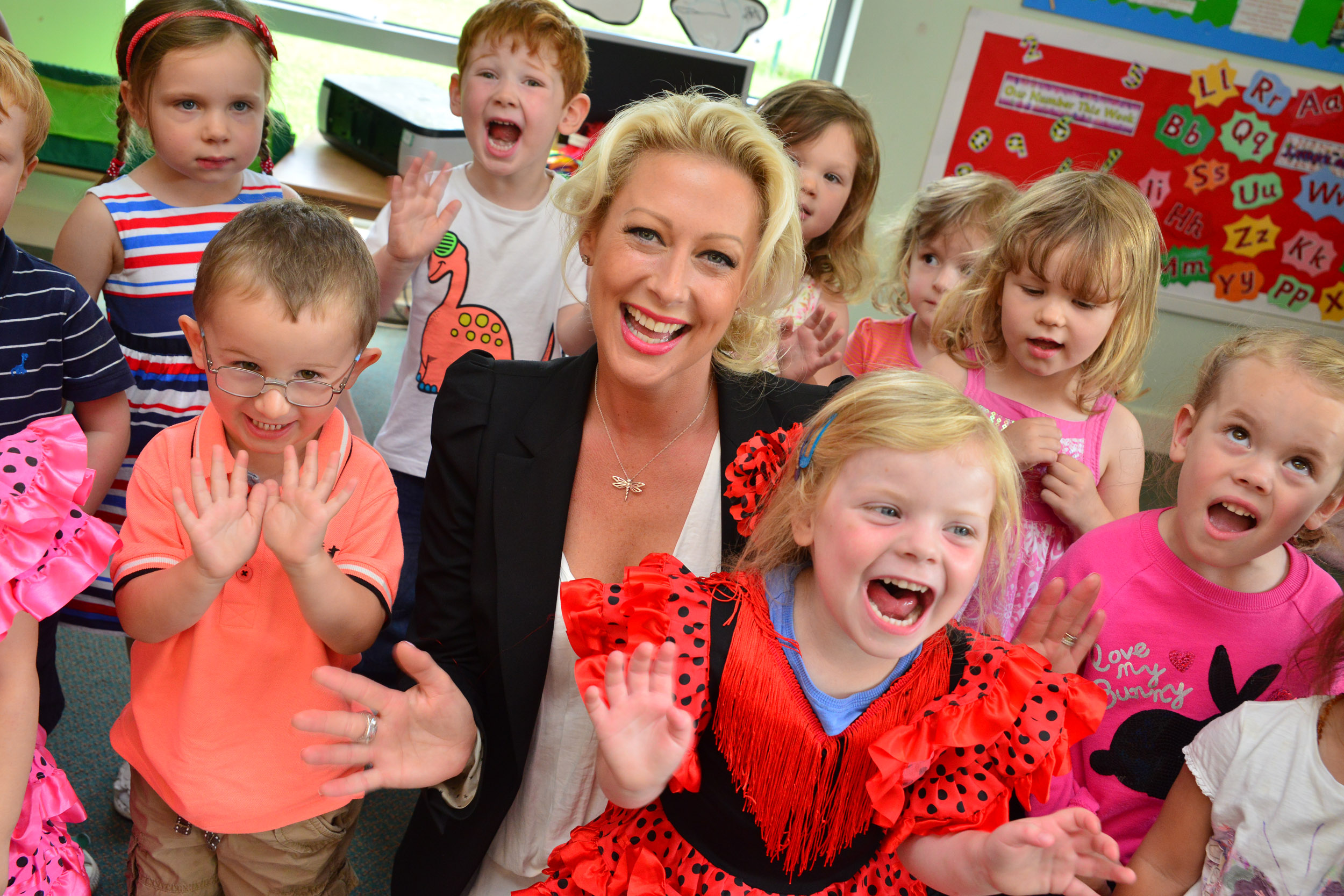 Steps star visits Kids 1st Wynyard for fundraising day