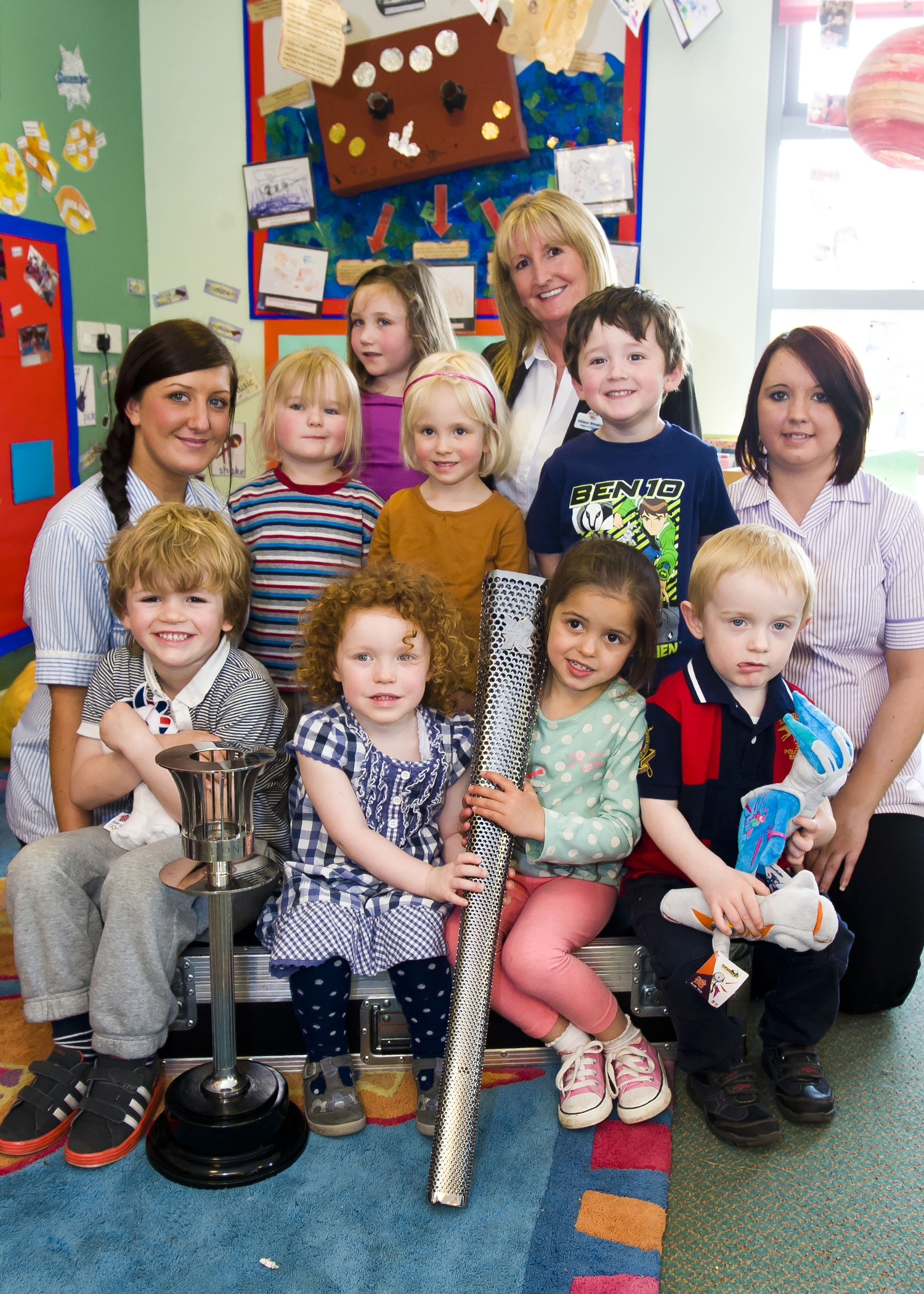 Kids 1st Wynyard welcome two Olympic Torches