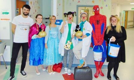 Special Halloween treat for children at the great north children's hospital