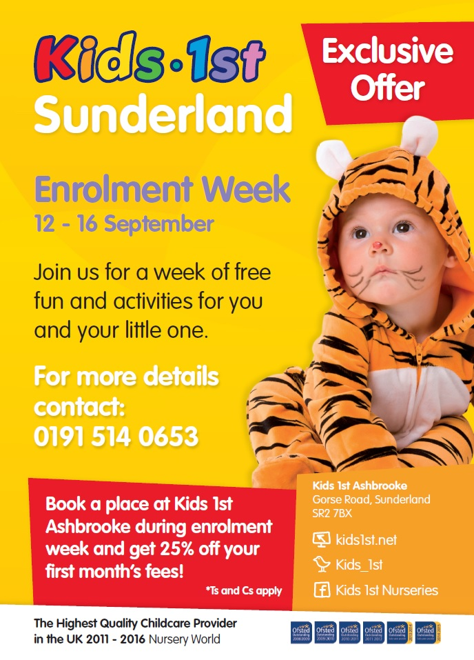 Enrolment Week at Kids 1st Sunderland