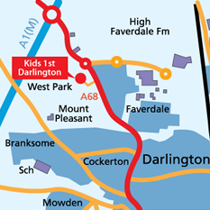 Darlington Map