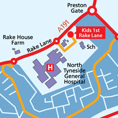 Rake Lane Map